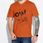 OIAF 2020 mens orange shirt